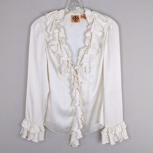 Tory Burch | Ruffled Silk Blouse